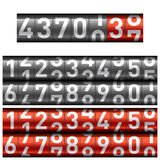 Counter. The vector illustration. Change numbers Royalty Free Stock Photos