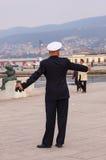 Counter admiral of Italian navy Stock Photos