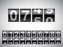 Counter. Counter with all numbers on white background Stock Photos