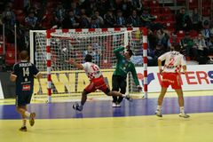 Counter attack goal Royalty Free Stock Images