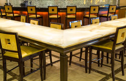 Counter and Bar with Stools Royalty Free Stock Image