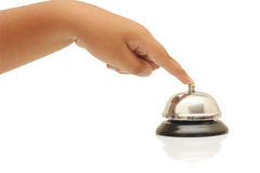 Counter bell. Normally to use at counter hotel and resort Royalty Free Stock Images