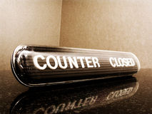 Counter closed Stock Photos