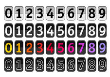Counter with digits set. Flat design royalty free illustration