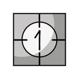 Counter film isolated icon Stock Photos