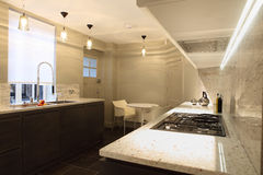 counter fitted kitchen marble stylish tops Στοκ Εικόνα