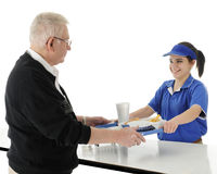 Counter Girl Serving Royalty Free Stock Photography