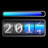 Counter new year. Technology display for counting 2011-2012 Stock Photo