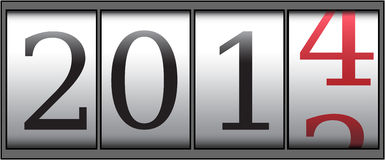 Counter 2014. A new year 2014 counter. Vector Stock Illustration