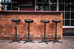 Counter nightclub with seat bar Royalty Free Stock Photo