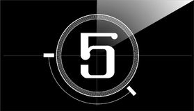 Counter number five film cinema cinematographic cinematography Stock Photos