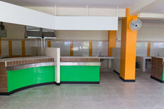The counter for selling food. In the new canteen stock image