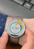 Counter on Smart Watch Royalty Free Stock Image