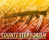 Counter terrorism Abstract concept digital illustration Royalty Free Stock Image