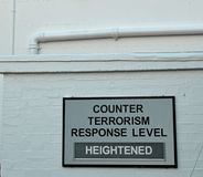 Counter terrorism response level sign. Royalty Free Stock Image