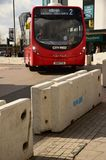 Counter terrorist road barrier and bus Southampton Stock Photos