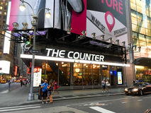 The Counter, Times Square, NYC. Stock Images