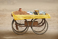 Counter to sell roasted peanuts. India. Royalty Free Stock Image