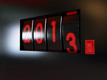 Counter turn of the year 2013 Stock Image