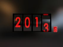 Counter turn of the year 2013. Counter turn of the new year 2013 Stock Illustration