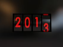 Counter turn of the year 2013. Counter turn of the new year 2013 Vector Illustration