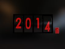 Counter turn of the year 2014 Stock Photography