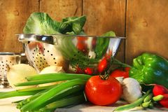 counter veggies royaltyfri fotografi