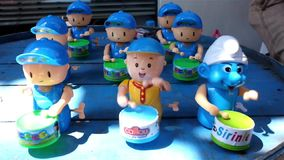 Counterfeit drum playing toys stock video