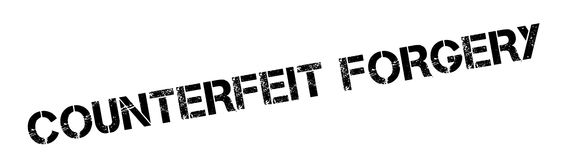 Counterfeit Forgery rubber stamp Royalty Free Stock Image