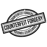 Counterfeit Forgery rubber stamp Stock Image