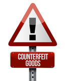 Counterfeit goods road sign illustration Royalty Free Stock Photo