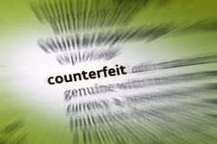 Counterfeit Royalty Free Stock Photography