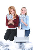 Counterfeiting Teens Stock Photography