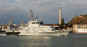 Countersabotage boats 837 in the Bay of Black Sea. Royalty Free Stock Image