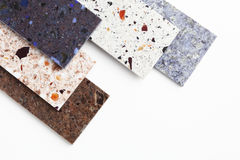 Countertop samples. On white background Royalty Free Stock Photos