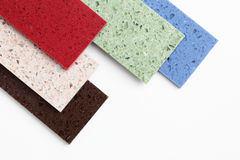 Countertop samples. On white background Royalty Free Stock Images