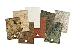 Countertop samples on white Royalty Free Stock Photography