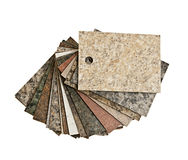 Countertop samples on white Royalty Free Stock Images
