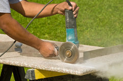 countertops som klipper granit Royaltyfri Bild