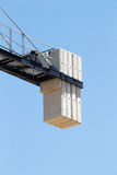 The counterweight of a construction crane, detail Royalty Free Stock Photography
