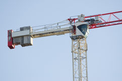 The counterweight and tower crane operator's cab royalty free stock image