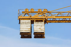 The counterweight of the tower crane at work Royalty Free Stock Photography