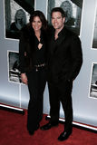 Countess LuAnn de Lesseps, Thomas Roberts. NEW YORK-JAN 12: Countess LuAnn de Lesseps (L) and Thomas Roberts attend 'Beautiful - The Carole King Musical' stock photography