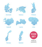 Counties of North Europe Stock Image