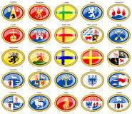 Counties of Sweden flags. Royalty Free Stock Photo
