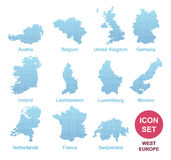 Counties of West Europe Stock Photo