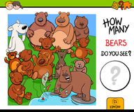 Counting bears educational activity game Royalty Free Stock Photos