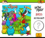 Counting birds educational activity game Royalty Free Stock Photography