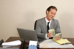 Counting Cash Royalty Free Stock Image