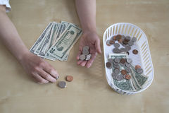 Counting cash Stock Image